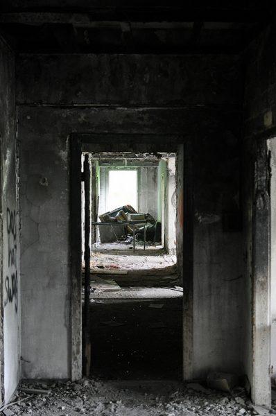 burnt hallway iraqi embassy