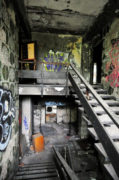 burnt out staircase iraqi embassy berlin