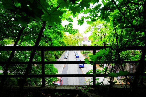 sbahn tracks bridge