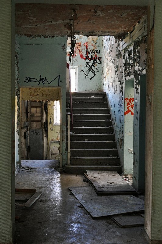 staircase abandoned house