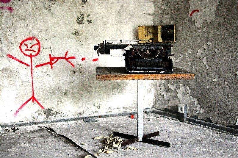 typewriter abandoned iraqi embassy berlin