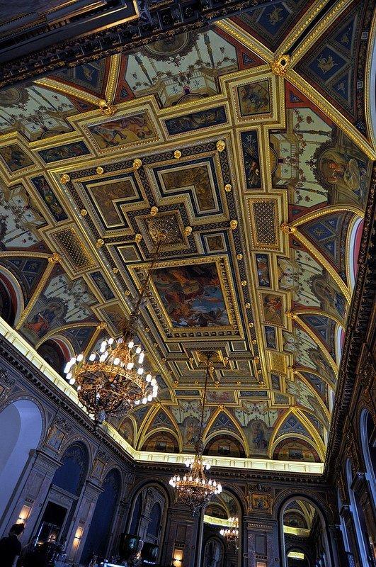 cafe parisi budapest neo renaissance fresco lotz terem budapest hungary
