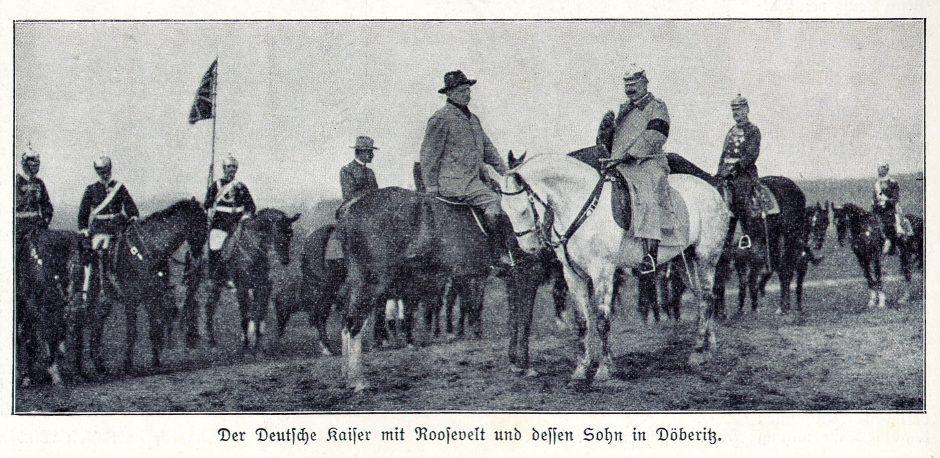 Kaiser Wilhelm II and Theodore Roosevelt 1910