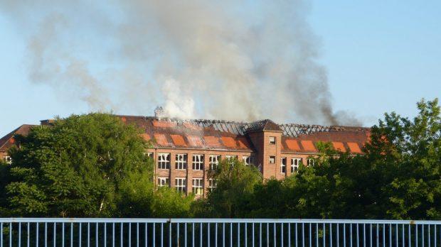 Burning Kabelwerk Köpenick Photo Copyright - dasteil
