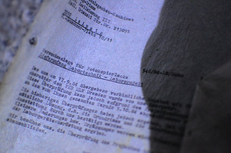 VEB Fotochemische Werke Berlin lab notes