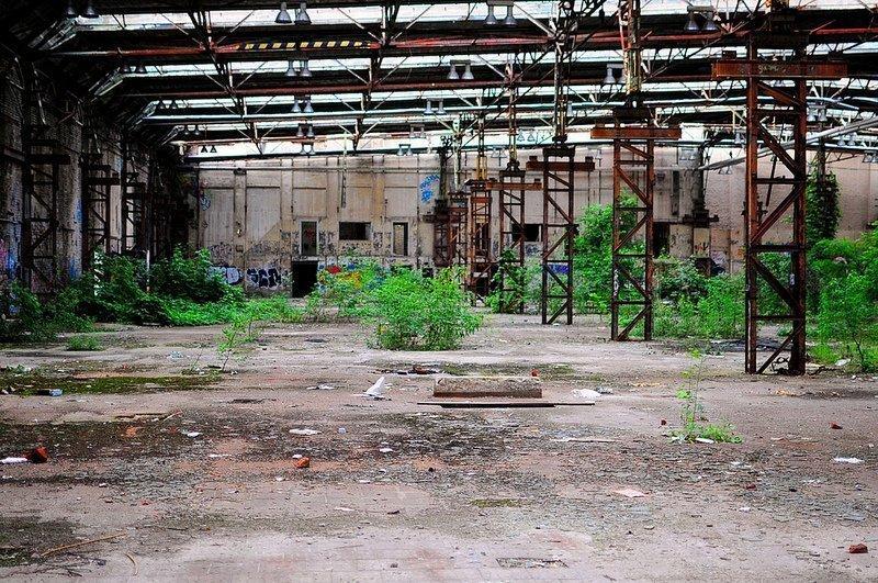 VEB Kabelwerk Koepenick factory halls trees