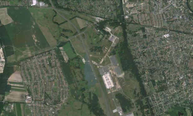 aerial view flugplatz oranienburg 2013