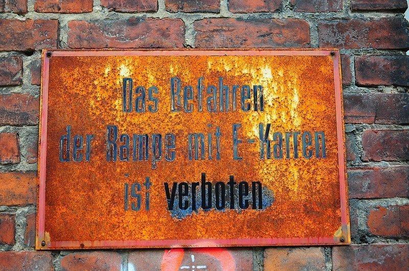 verboten sign