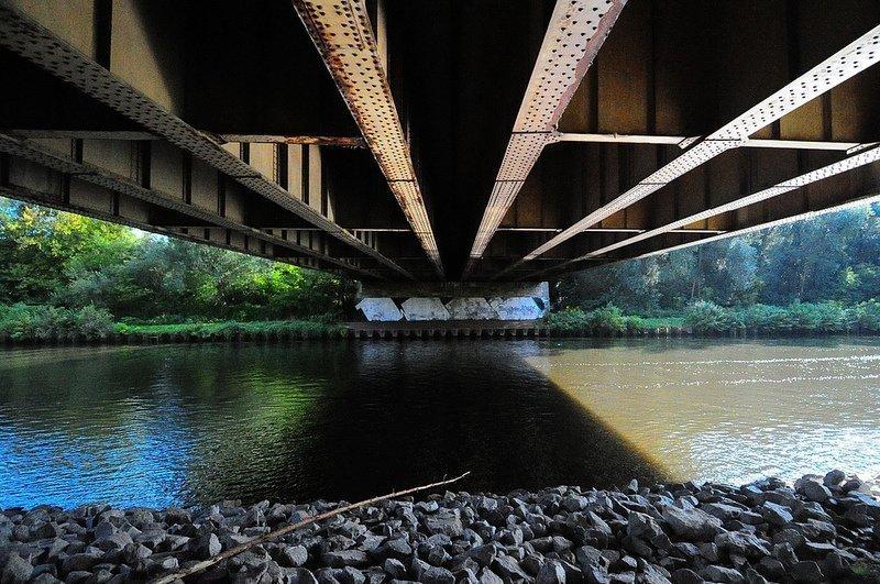abandoned teltowkanal bridge berlin