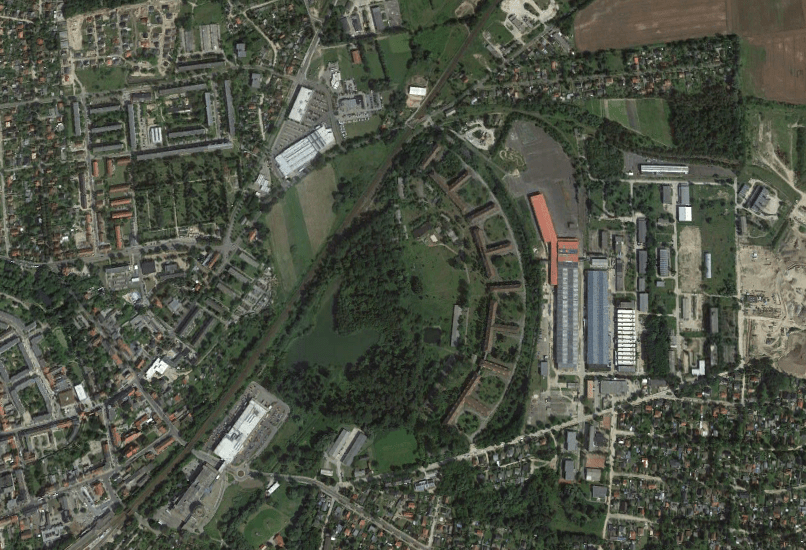 aerial view heeresbekleidungsamt bernau