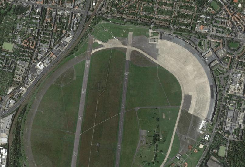 aerial view tempelhof airport