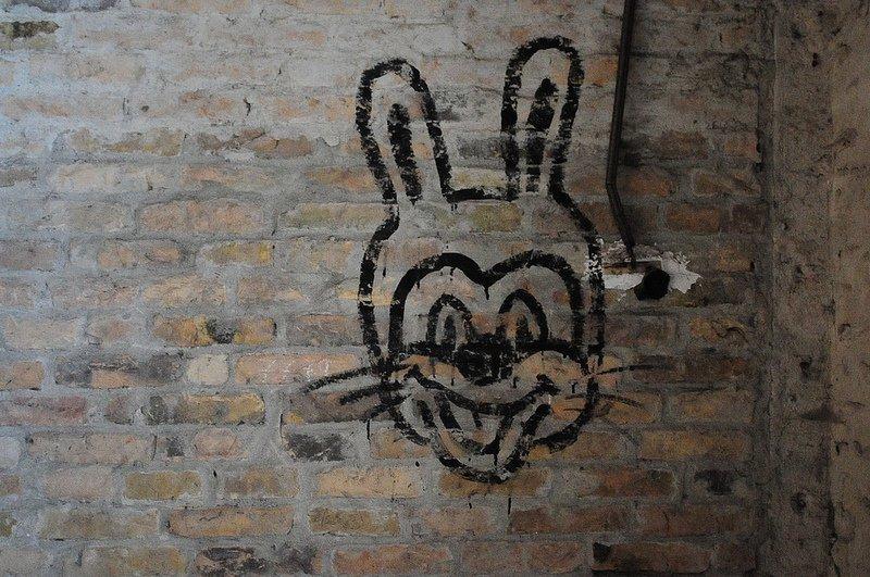 russian bunny graffiti