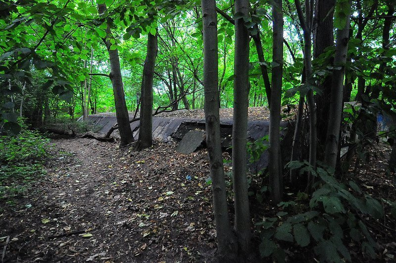 seiten ansicht bunker auslaenderlager schoenholz