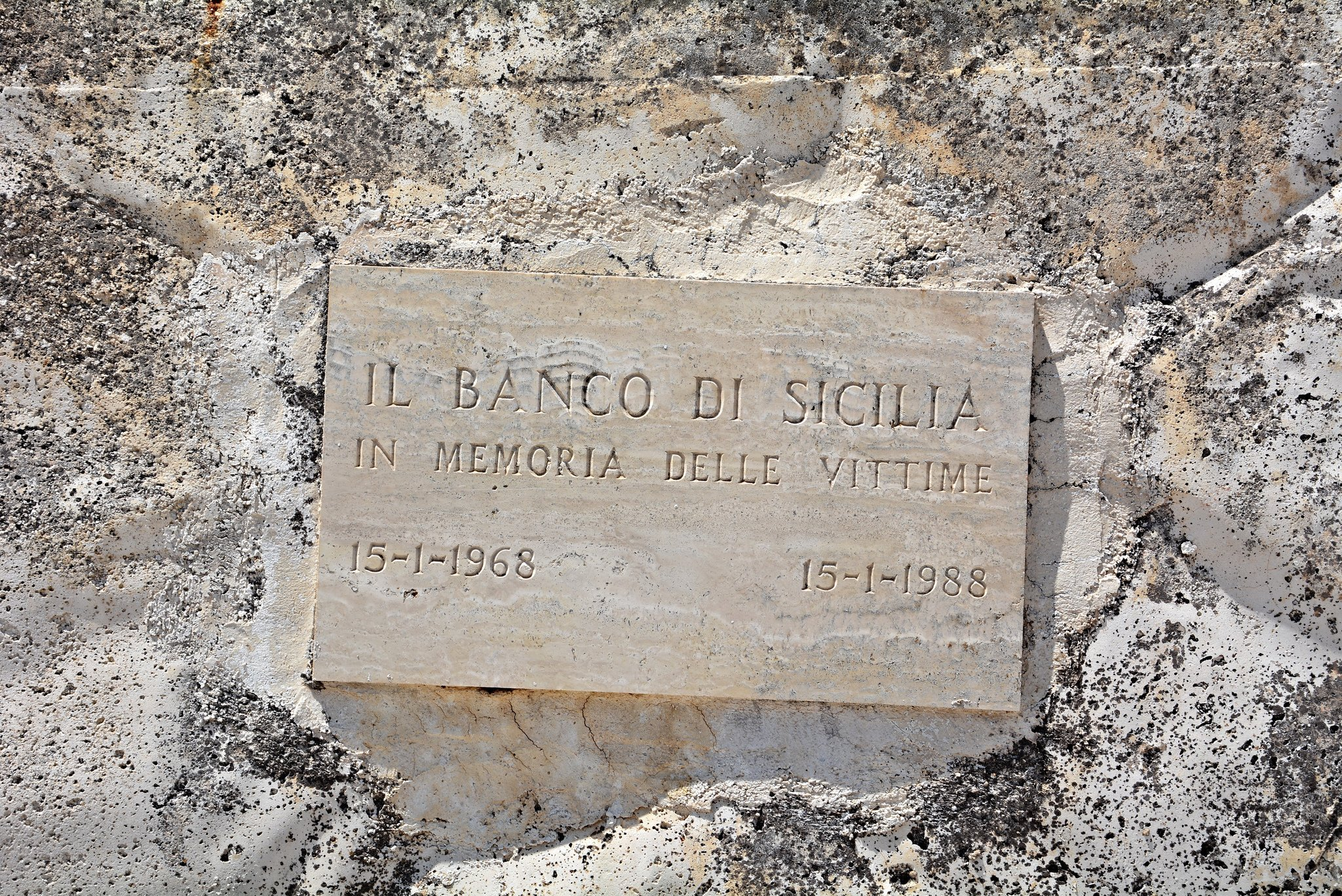 memorial plaque gibellina vechia