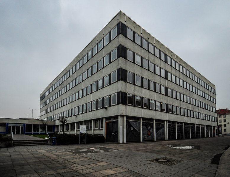 rechenzentrum potsdam germany deutschland ddr mosaic mosaik front ansicht