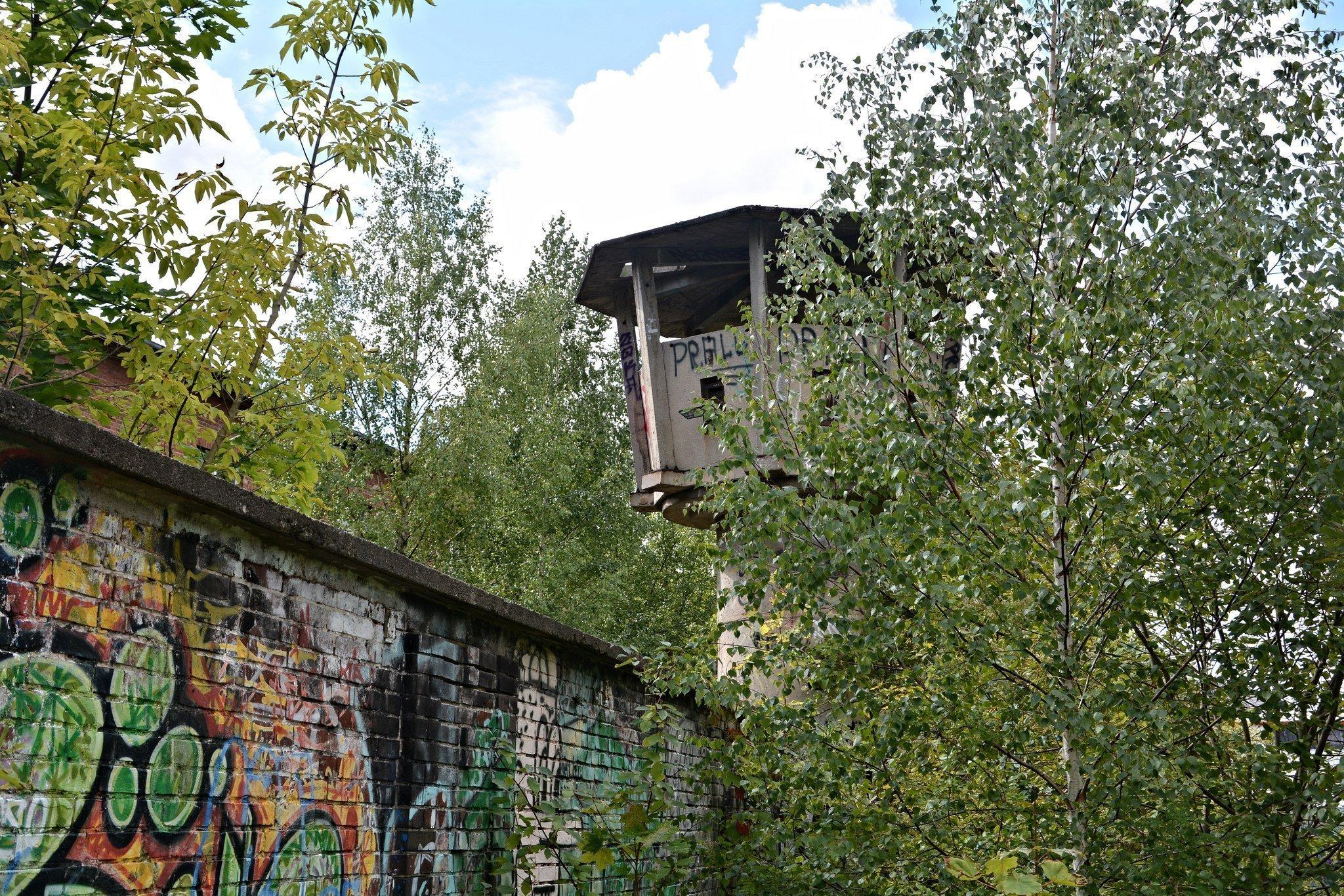 abandoned watchtower east berlin