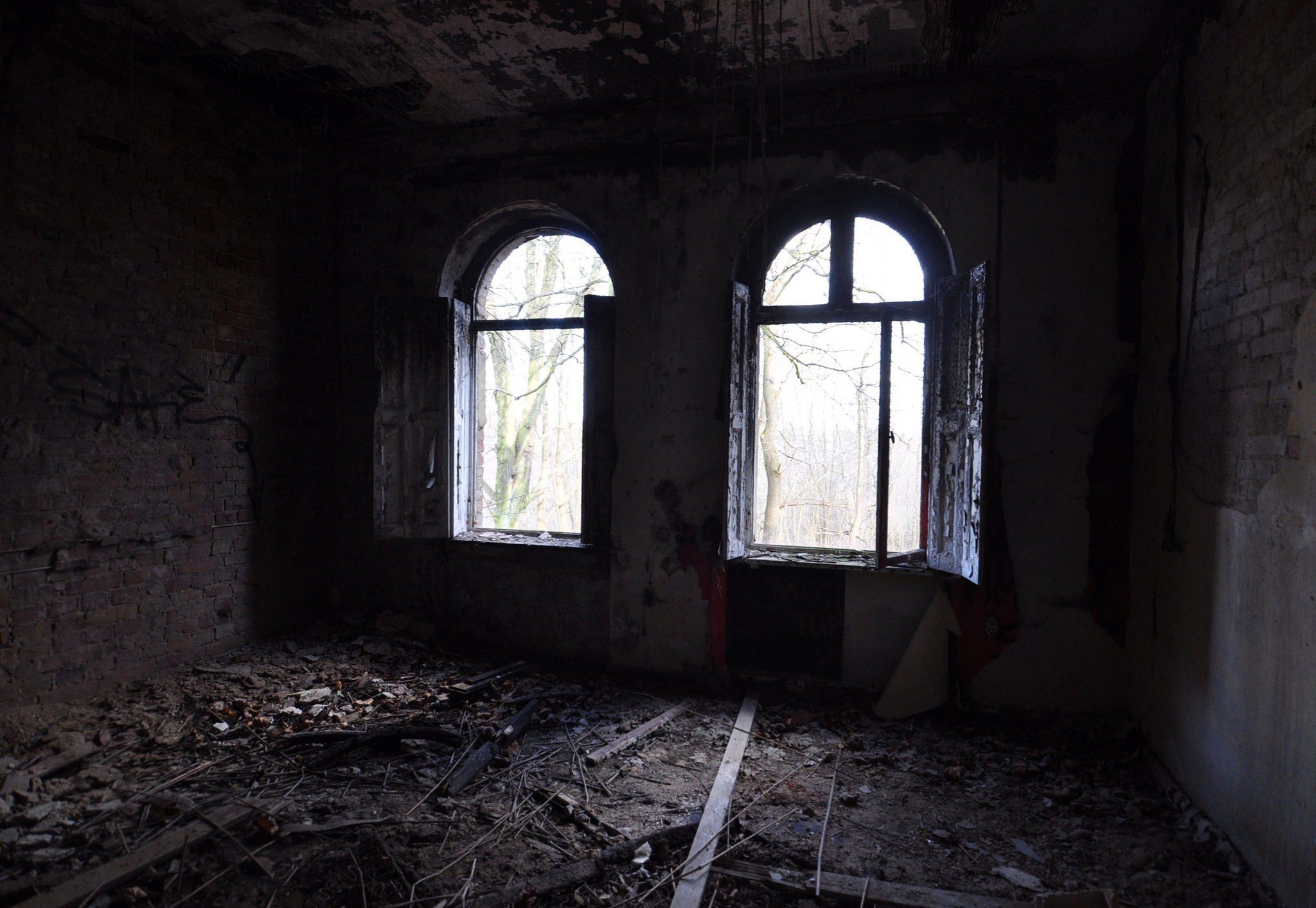 abandoned room ruins villa urbex lost places germany
