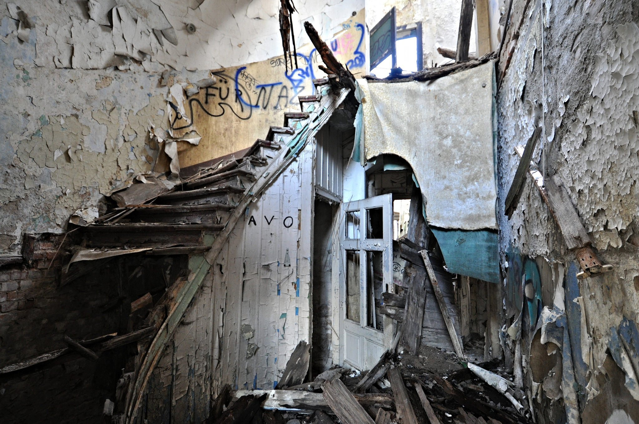 abandoned villa staircase germany lost places urbex