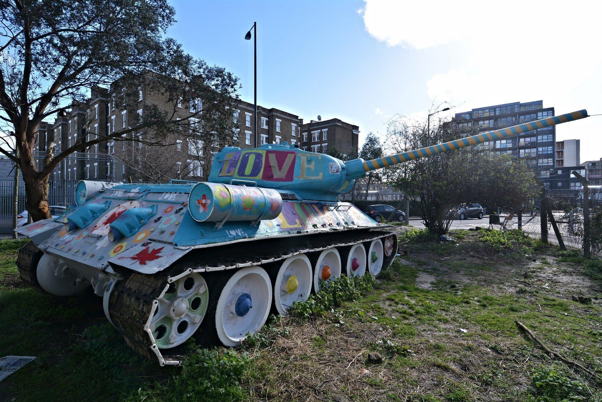 t34 soviet tank mandela way london england stompie stompy