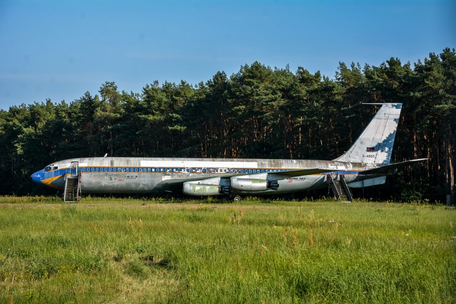 abandoned berlin tegel txl airport boeing 707 airplane lost places urbex berlin germany abandoned lufthansa airplane