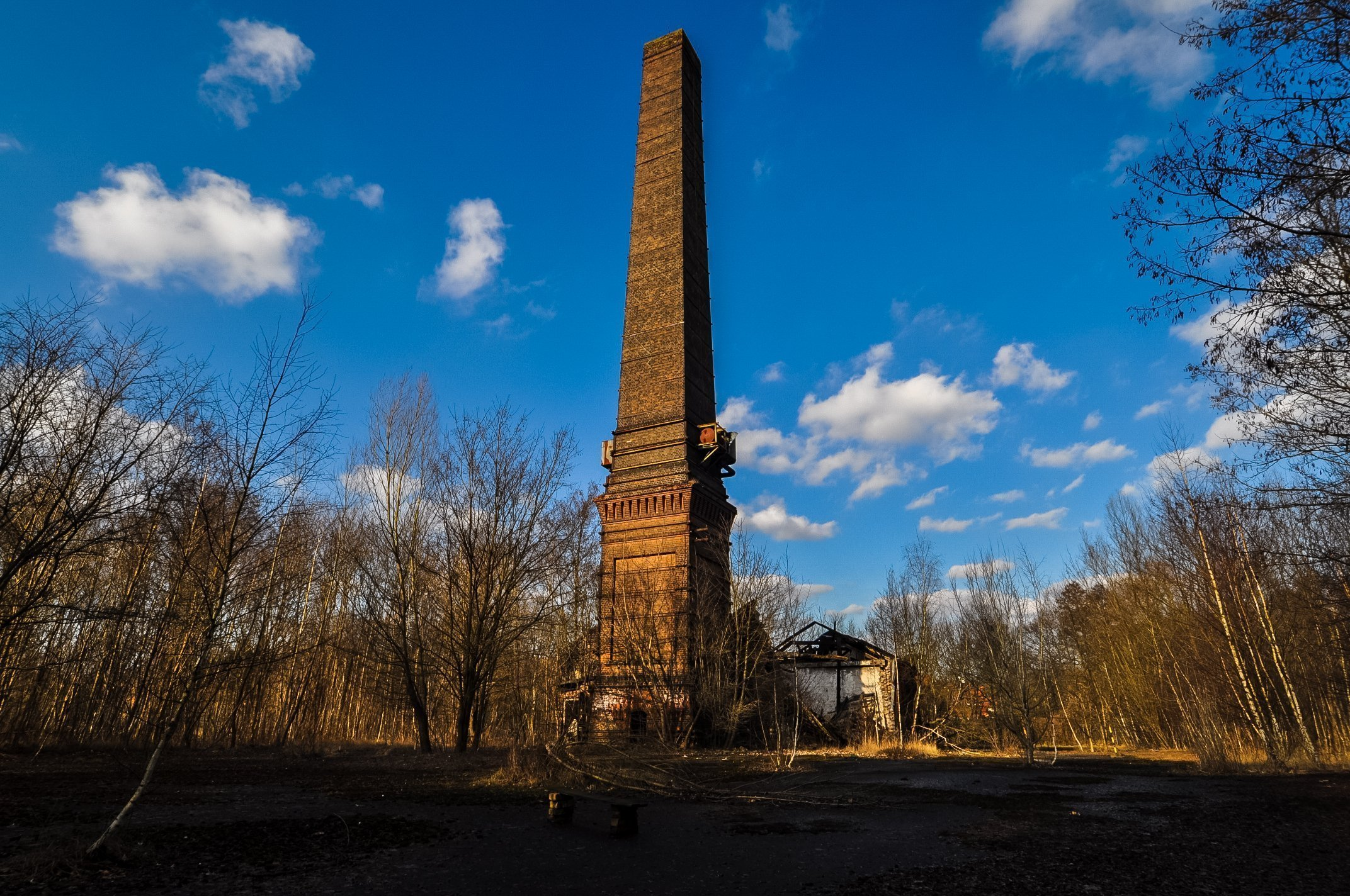 abandoned berlin urbex lost places berlin urban exploring germany horseshoe nail factory chimney tower