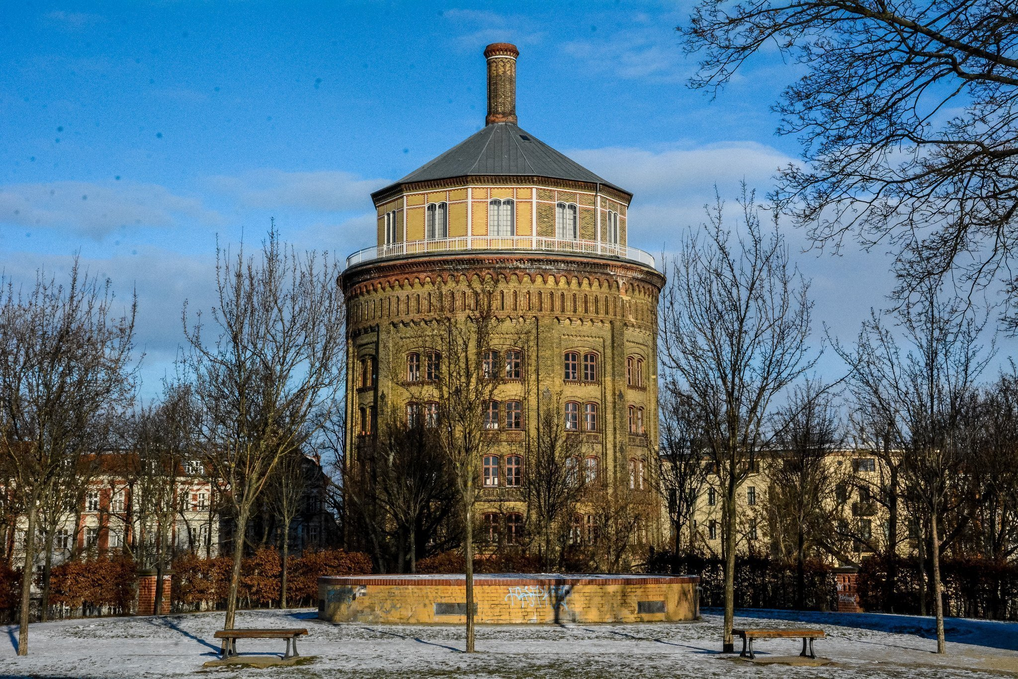 berlin prenzlauer berg wasserturm water tower park view
