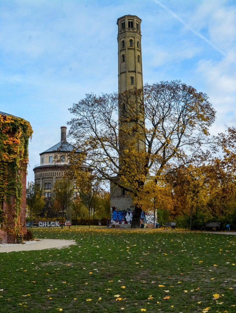 berlin prenzlauer berg wasserturm water tower water reservoir entrance park