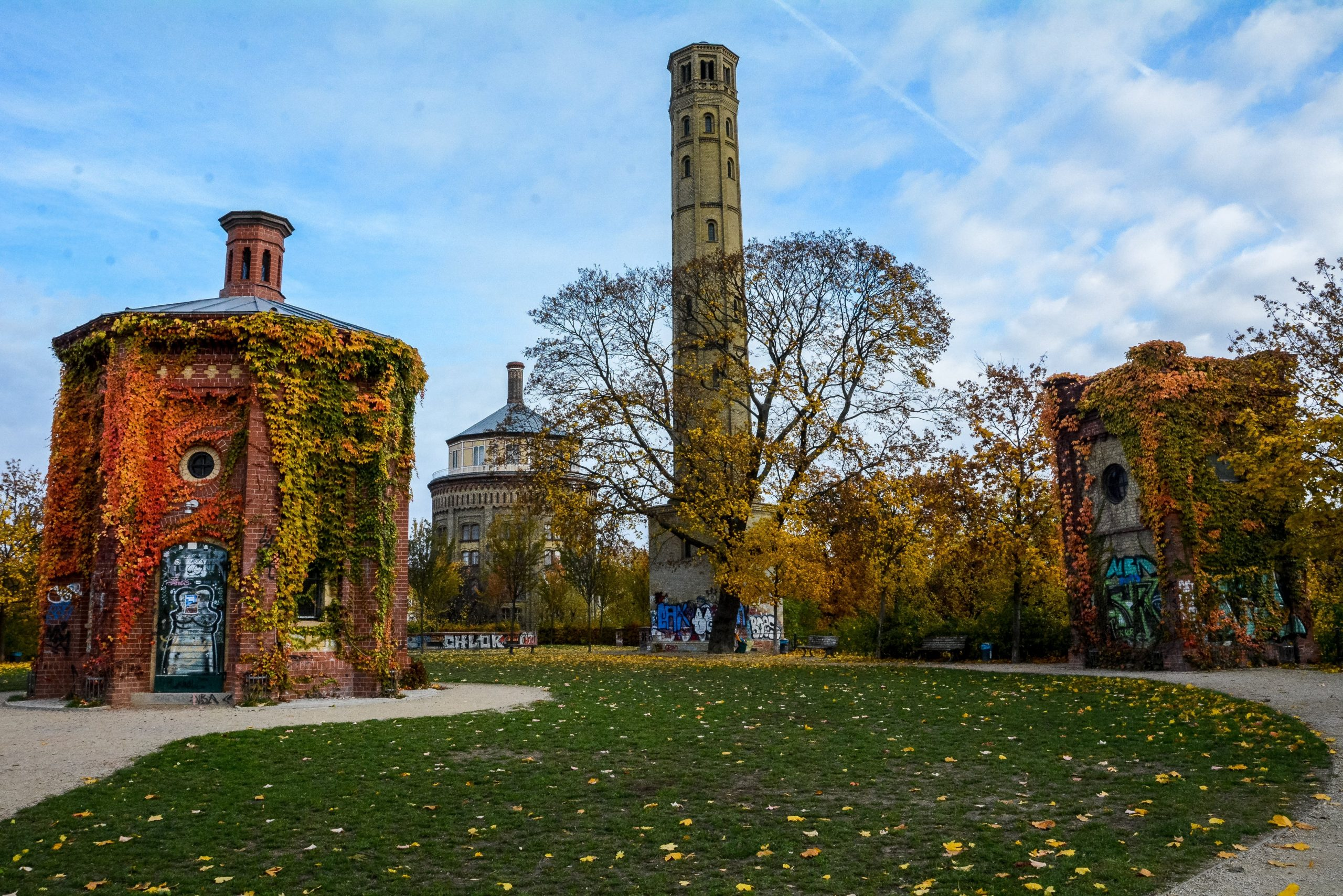 berlin prenzlauer berg wasserturm water tower water reservoir entrance park