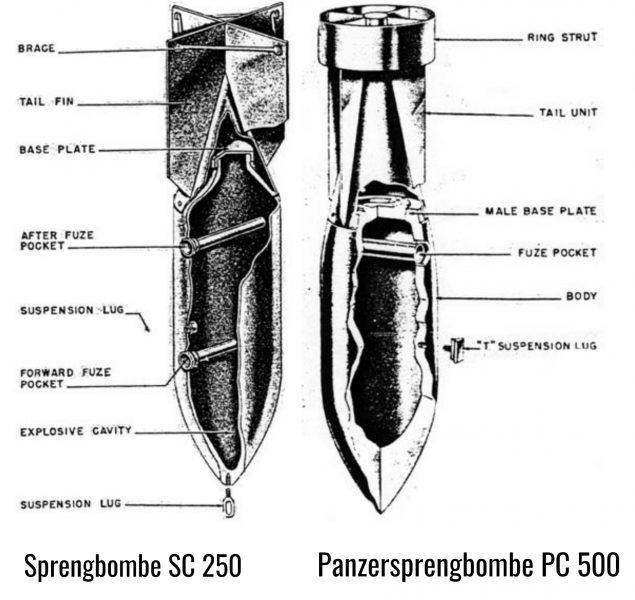 panzersprengbombe pc 500