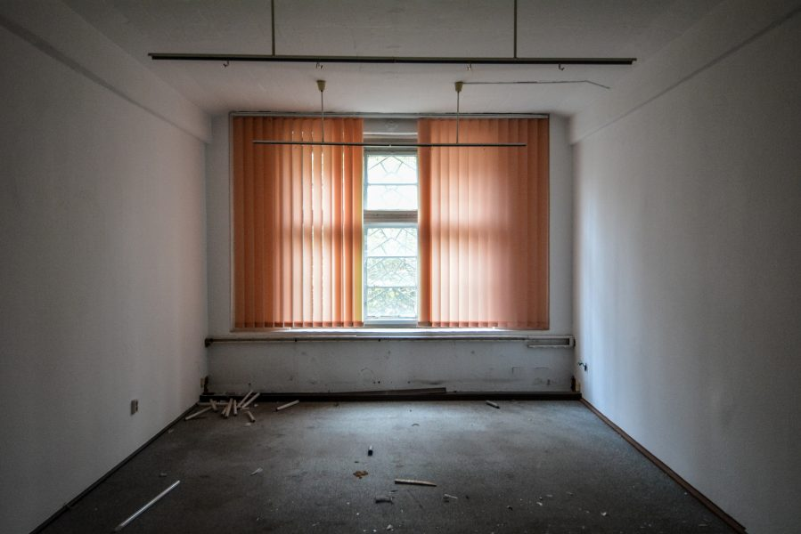 textil fabrik factory urbex lost places abandoned germany double orange curtains