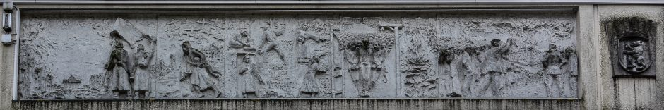 socialist mural 1933 - 1945 fries der sozialistischen Geschichte Berlins Gerhard Thieme socialist history of berlin relief frieze socialsim communism east berlin east germany ddr