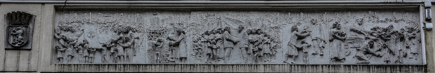 1945 1949 fries der sozialistischen Geschichte Berlins Gerhard Thieme socialist history of berlin relief frieze berlin germany socialsim communism east berlin east germany ddr
