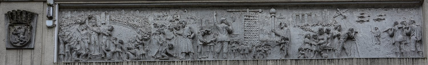 1950 1968 fries der sozialistischen Geschichte Berlins Gerhard Thieme socialist history of berlin relief frieze berlin germany socialsim communism east berlin east germany ddr