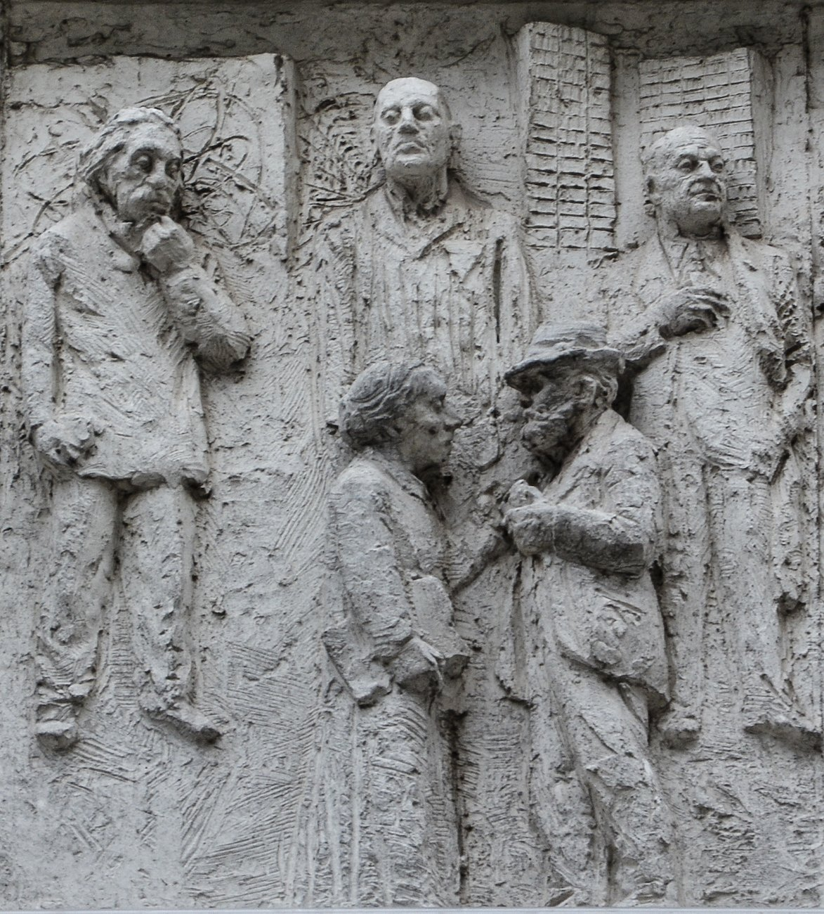 albert einstein fries der sozialistischen Geschichte Berlins Gerhard Thieme socialist history of berlin relief frieze berlin germany socialsim communism east berlin east germany ddr