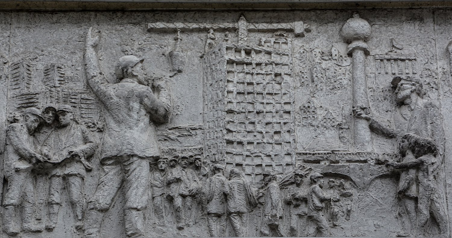 aufbau alexanderplatz fries der sozialistischen Geschichte Berlins Gerhard Thieme socialist history of berlin relief frieze berlin germany socialsim communism east berlin east germany ddr