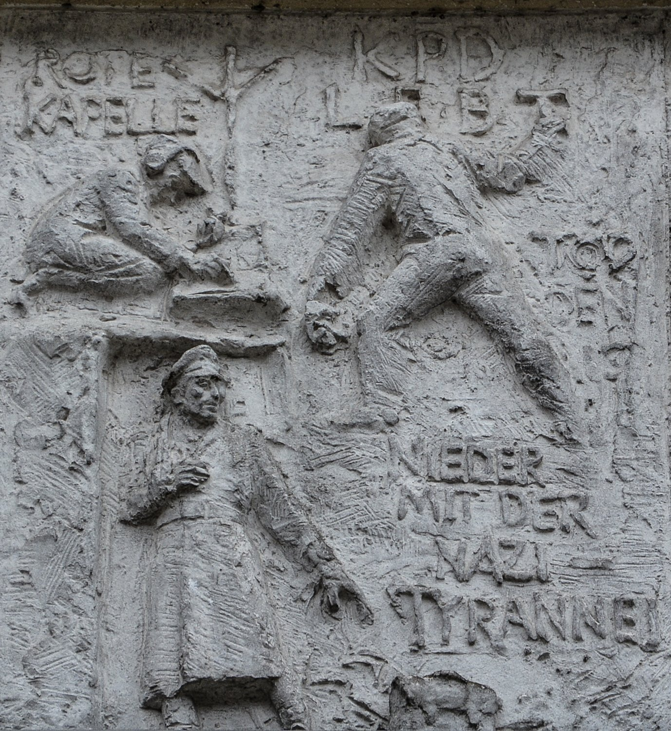 nieder mit den nazis fries der sozialistischen Geschichte Berlins Gerhard Thieme socialist history of berlin relief frieze berlin germany socialsim communism east berlin east germany ddr