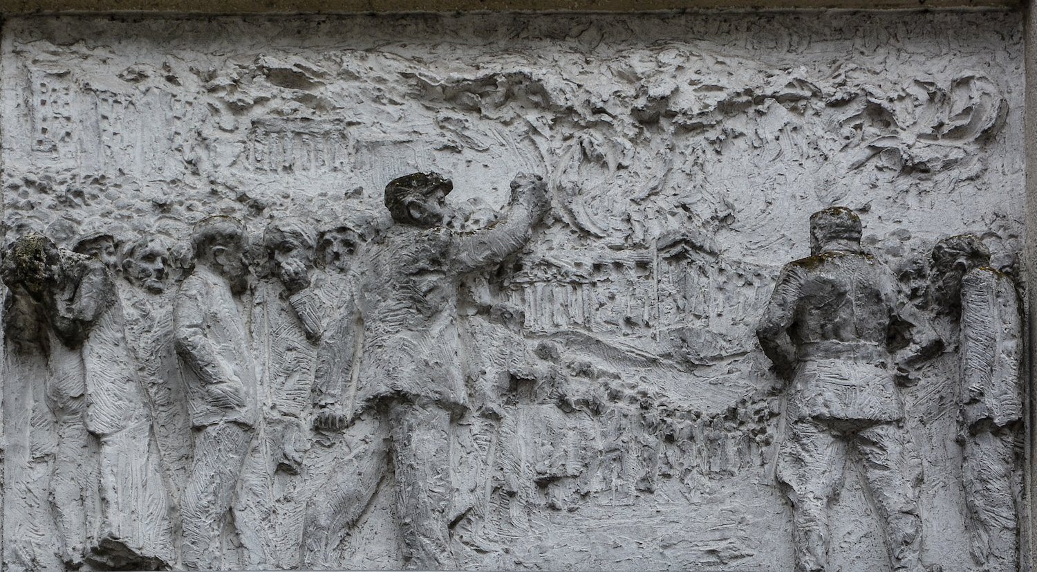 reichstagsbrand fries der sozialistischen Geschichte Berlins Gerhard Thieme socialist history of berlin relief frieze berlin germany socialsim communism east berlin east germany ddr