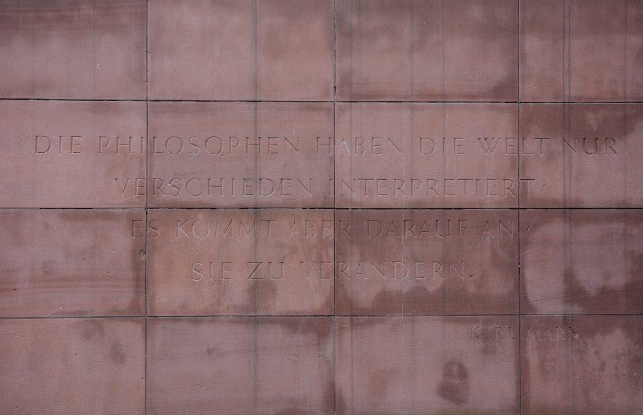 Karl Marx Erinnerungsstaette Stralau berlin germany feuerbach these