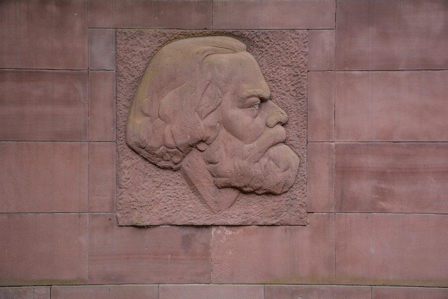Karl Marx Erinnerungsstaette Stralau berlin germany relief