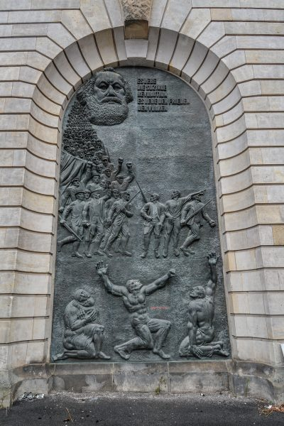 Neuer Marstall berlin germany deutschland karl marx bronze relief es lebe die soiale revolution
