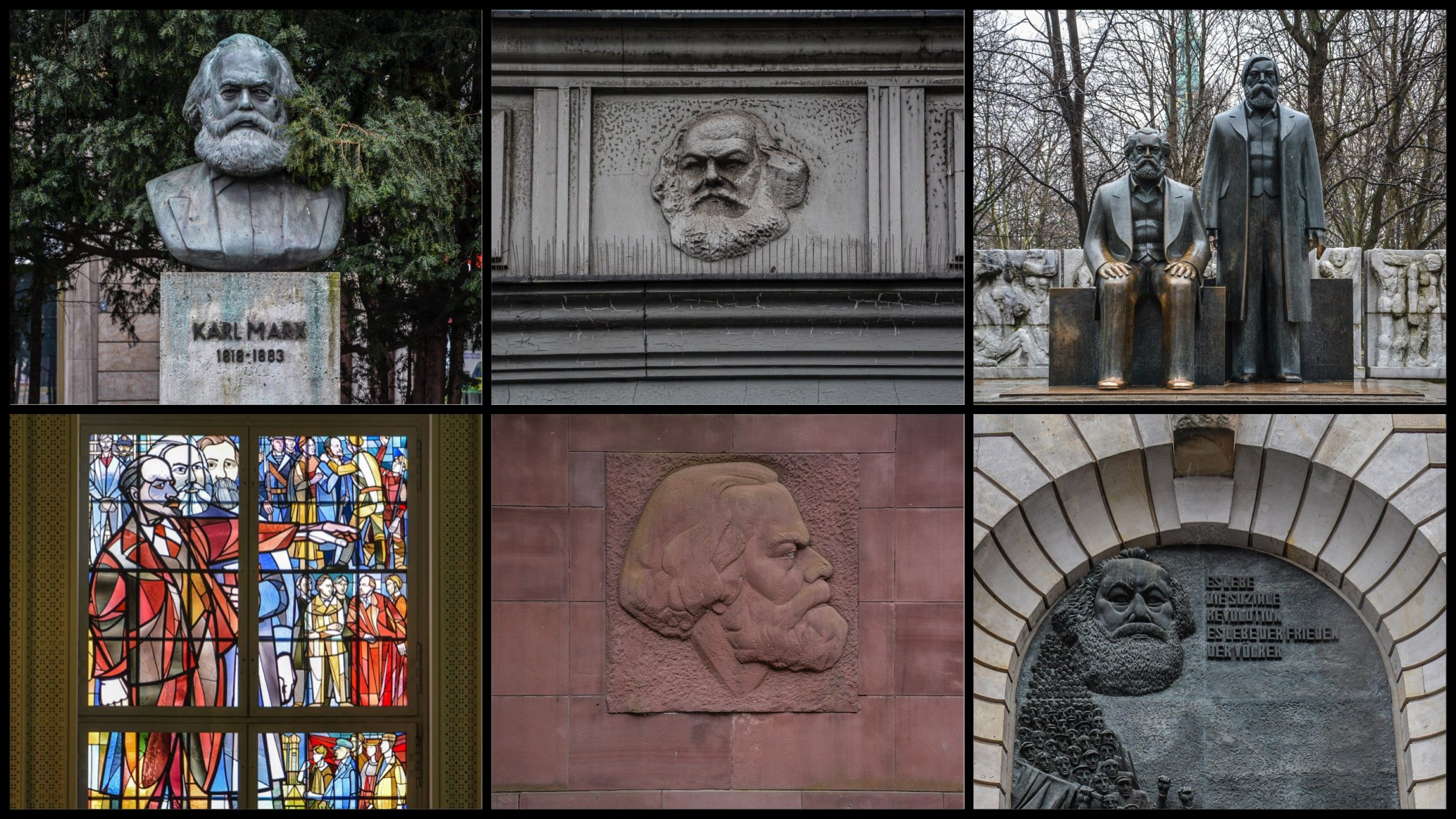karl marx berlin germany collage