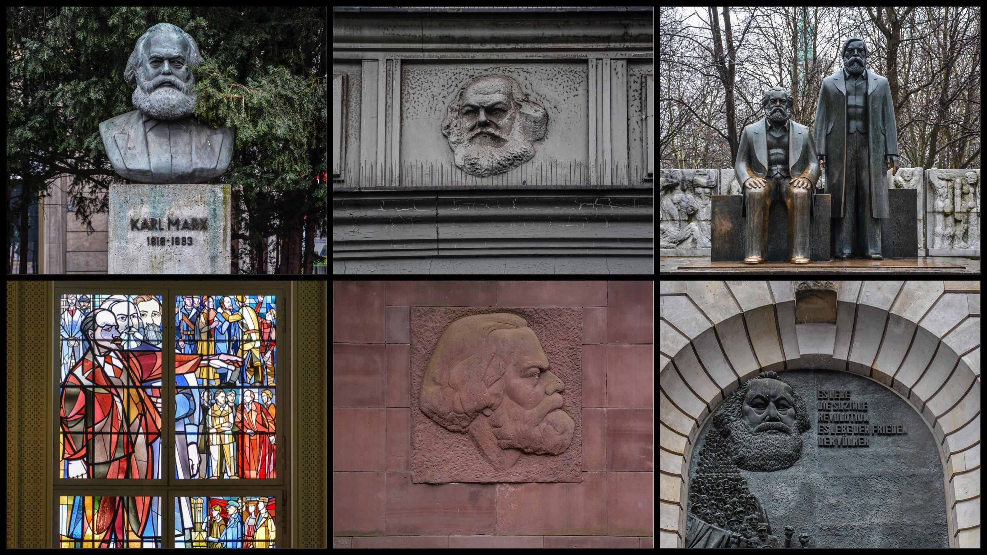 karl marx berlin germany collage