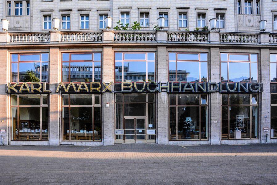 karl marx buchhandlung bookstore stalinallee berlin germany deutschland ddr