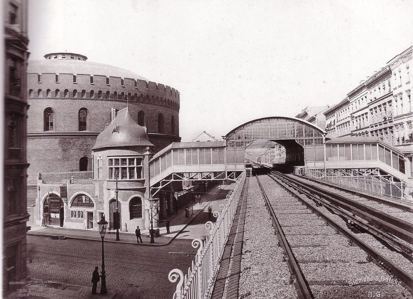 "The Berliner Hochbahnhof ""Prinzenstraße"" shortly before its official opening - circa 1903 