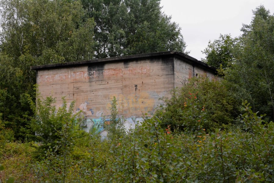 angle view versuchsstelle fuer hoehenfluege nazi bunker WWII abandoned lost places urbex oranienburg brandenburg germany