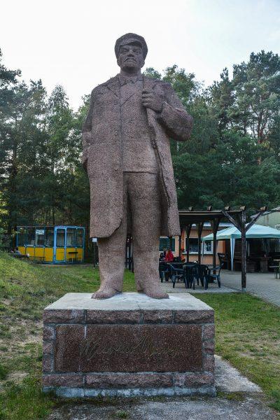 lenin statue finowfurt brandenburg germany