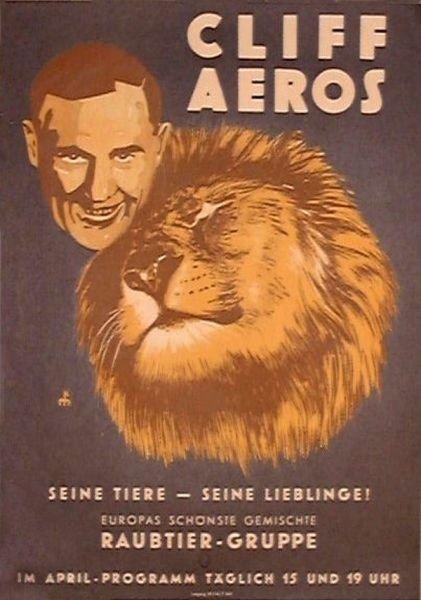 A poster advertising for the AEROS Circus