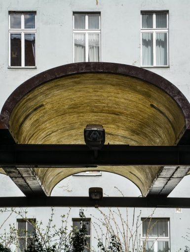 car port border roof grenzdach elaste bornholmer strasse border crossing prenzlauer berg berlin germany east germany