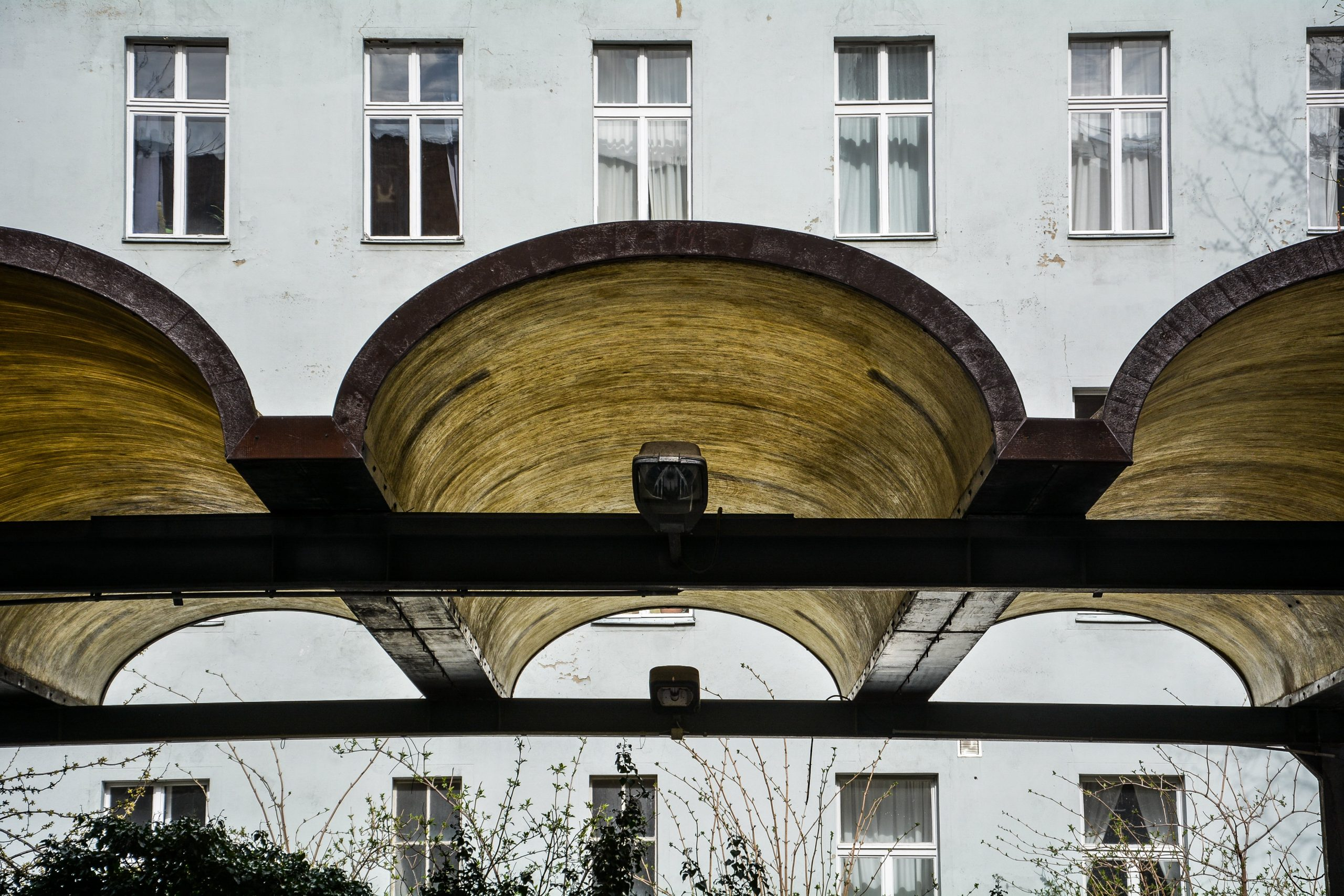 car port border roof grenzdach elaste bornholmer strasse border crossing prenzlauer berg berlin germany east germany