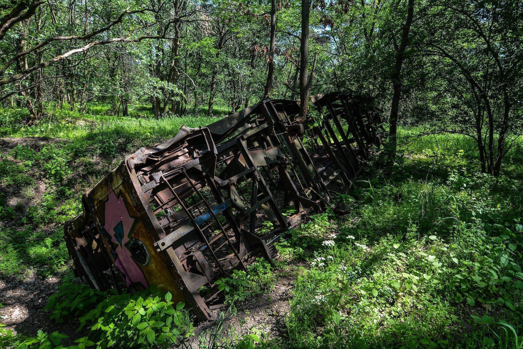 undercariage tram strassenbahn brandenburg dallgow doeberitz potsdam abandoned urbex lost places germany deutschland